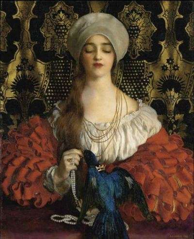 suicideblonde:  The Blue Bird (1918) by Frank Cadogan Cowper
