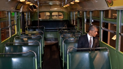 Here is a picture of Obama sitting down on the Rosa Parks bus. Fun Stuff. Now let me get to what I want to talk about: Waiting. I love to wait for something because it seems to be the most productive period of my day. While I wait, I bust out my iPhone and read The Economist articles and learn about finance, economics, politics, and current events. It is the only time of day where I can comfortably know that I cannot possibly do anything else to occupy my time other than read about the news.  It just feels special.
