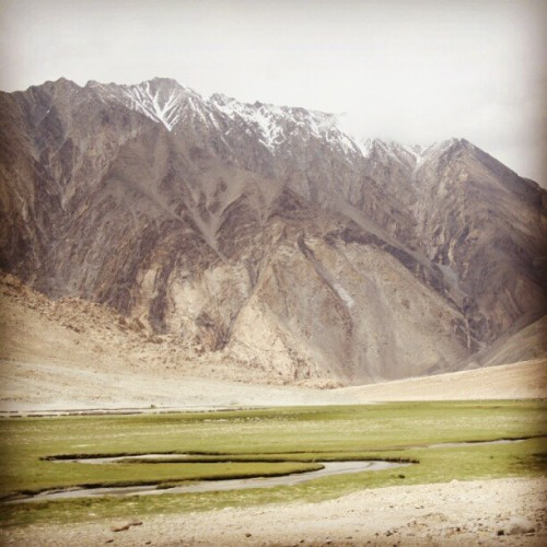 Another breathtaking diverse view enroute Pangong Tso… #SriniOnTour #Ladakh (Taken with Instagram)