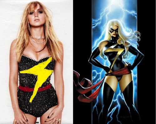 derpingaroundthelabyrinth:  Jennifer Lawrence for Ms. Marvel. It's perfect.  THIS