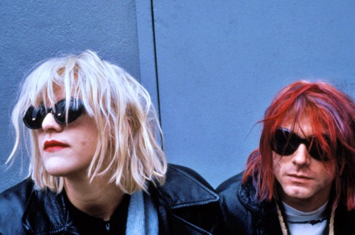 n-irvana:  Courtney Love and Kurt Cobain, New York, NY, US, 01/10/92