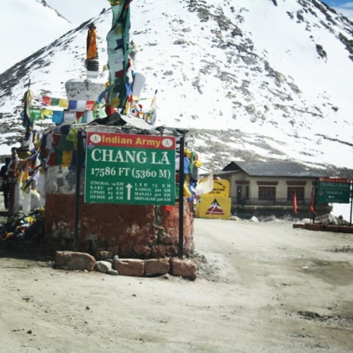 Chang La pass… #SriniOnTour #Ladakh (Taken with Instagram)