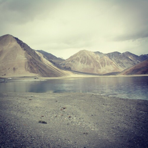 Another beautiful view of the Pangong Tso lake… #SriniOnTour #Ladakh (Taken with Instagram)