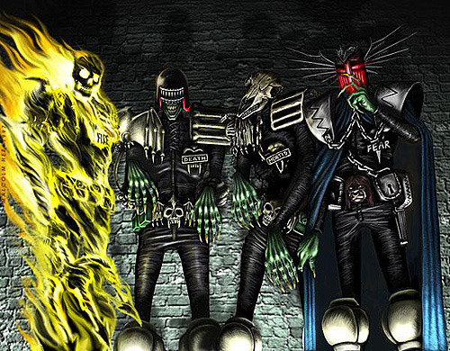 maximus-diabolicus-alcoholicus:  The Dark Judges… Aside from Dredd himself, they are my favorite characters in the Judge Dredd series. Out of them, Judge Fear is my favorite.