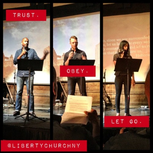 Our 3 speakers today! Great job @lincc @trayner @rhematrayner #libertychurchny (Taken with Instagram at Liberty Church Union Square)