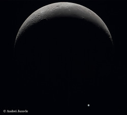 Moon-Jupiter Occultation by Andrei Juravle on Flickr.  Via Flickr: On July 15 2012 with Canon 550D on Newton 200/1200 mounted on NEQ6Pro
