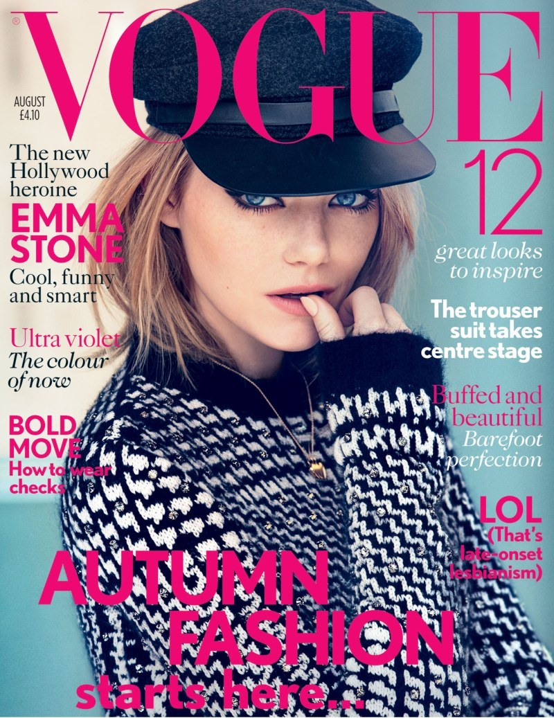 Vogue Reino Unido Agosto 2012 Emma Stone por Patrick Demarchelier. Estilismo de Clare Richardson. ….. Vogue United Kingdom August 2012 Emma Stone by Patrick Demarchelier. Styling by Clare Richardson.