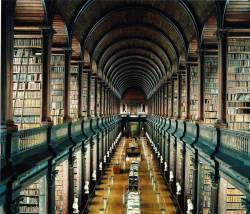 Kindles have nothing on this. Trinity Library, Dublin. - Imgur