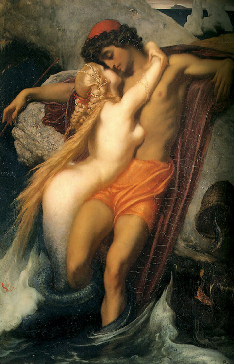 ratak-monodosico:  The Fisherman and the Syren, Frederic Leighton
