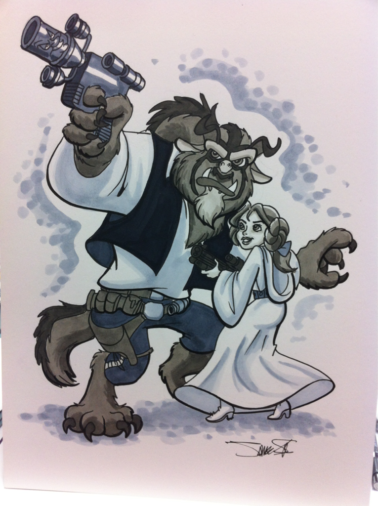 silvaniart:  SDCC- Who's scruffy lookin'?  I want to take this Silvani masterpiece and marry it.