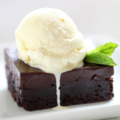 Fudge Brownie + Vanilla Ice Cream