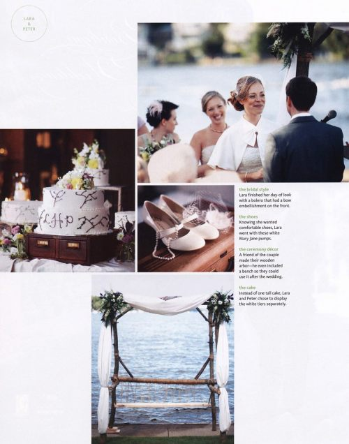 Eventfully Ash Design's first wedding, featured in The Knot :)
