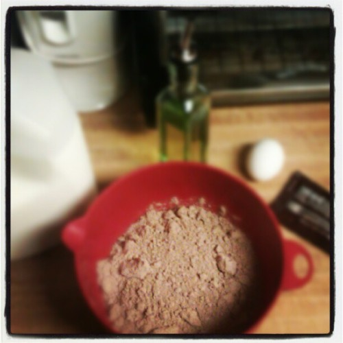 Brownie making at this hour I think yes :D  (Taken with Instagram)