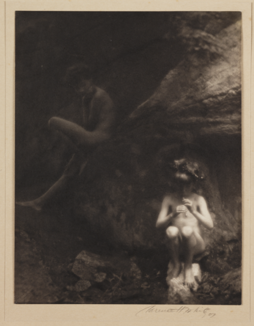 littlepennydreadful:   Clarence Hudson White, The Faun or Pipes of Pan, 1907