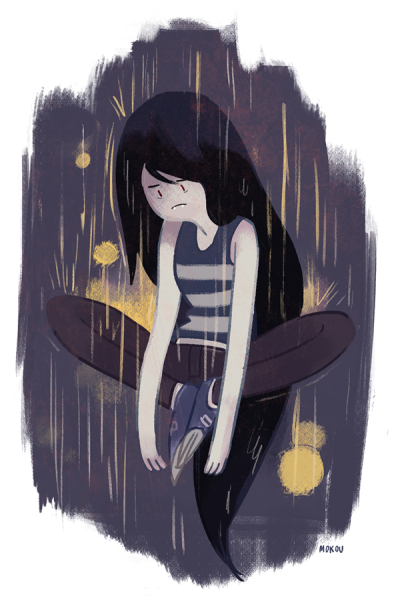 mokoudraws:  marceline the sad vampire queen