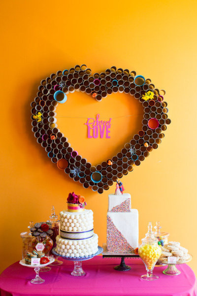 Cardboard Heart DIY via Style Me Pretty