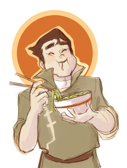 lisaveeee:  confettimuffin requested Bolin. there are so many pages of references of his adorable face, I had to draw him chipmunk-cheeking his noodles.  Bo. you little plum. you'd like some free arts? message me and I tell you how! :]