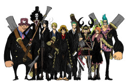 watashiotaku:  The whole Straw Hat Gang as Mafia's! So damn Cool!!!!