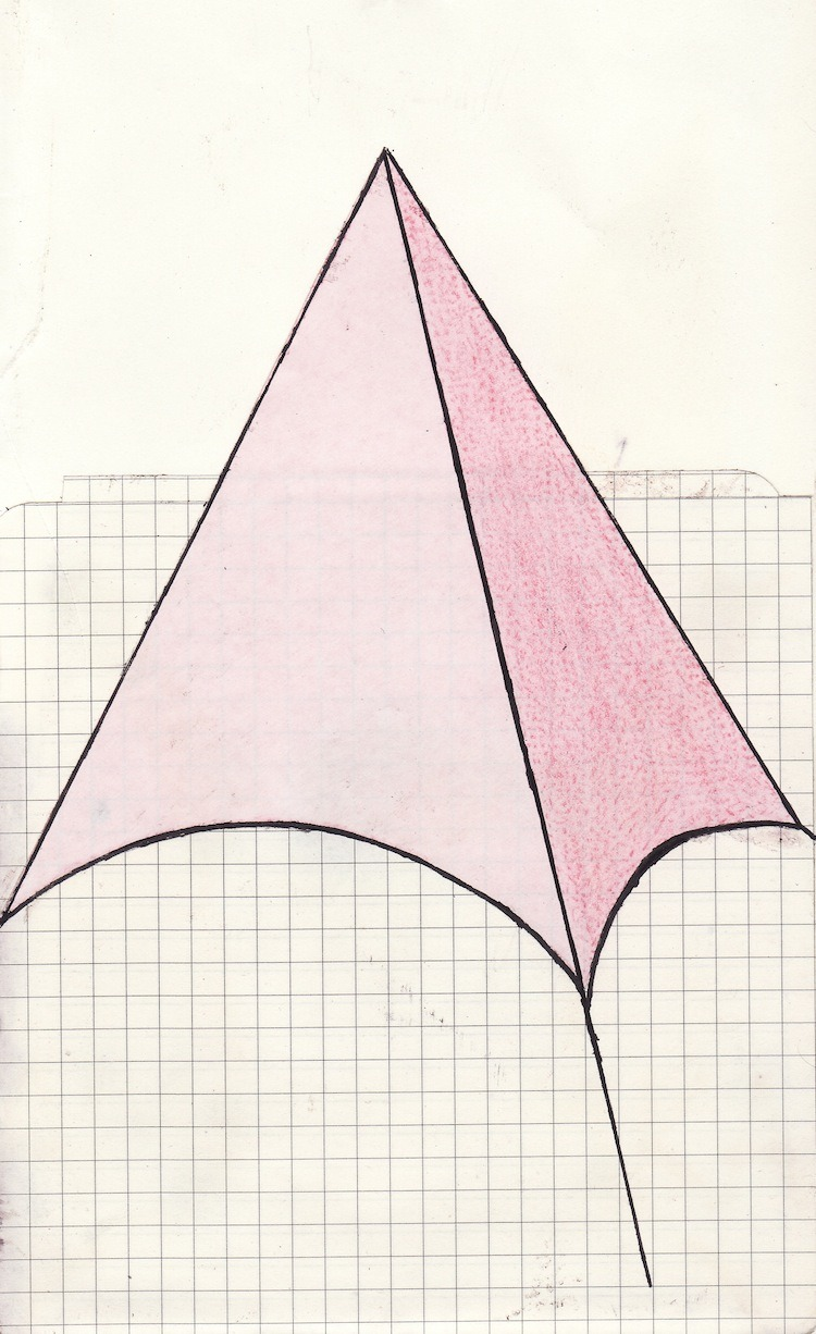 Pink tent composition. 2011 Topher Mileski