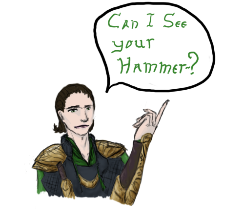 open-down-and-close-up:  sketchysoupart:  First attempt at Loki. I have no idea how to draw Loki. BUT WAS FUN STREAMIN! 8D Viking pick up line credit to http://verdurecybele.tumblr.com/ Special thanks to http://open-down-and-close-up.tumblr.com/ and http://rascalwabbit.tumblr.com/ for the suppot <3  YAAAAAAAY!  Fancy!