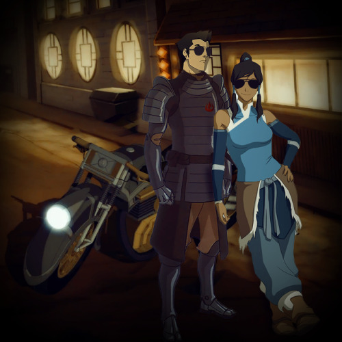 mrspettyferr:  Oh, is next week Makorra Week? Oh, are Korra and Mako going to be badass next season? Yup! [I was going to wait and post this for MW but I couldn't. The world needed to see Mako with aviators right now.]
