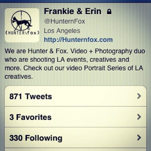 Follow us on Twitter @hunternfox  (Taken with Instagram)