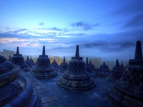 My Bohemian World  Temple Borobudur, Indonesia, at sunrise