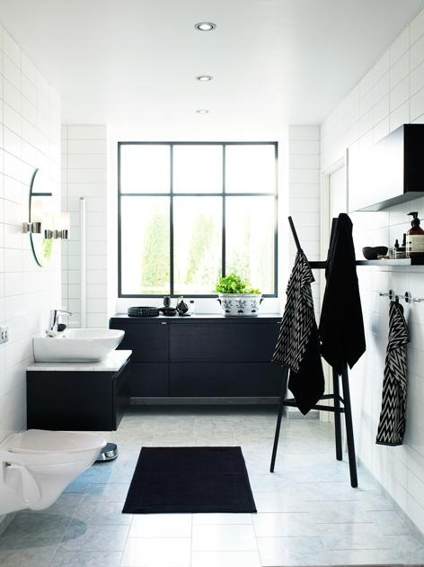 myidealhome:  black and white bathroom