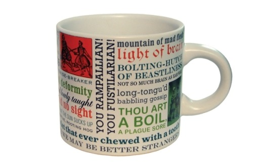 amandaonwriting:  Shakespearean Insults Mug