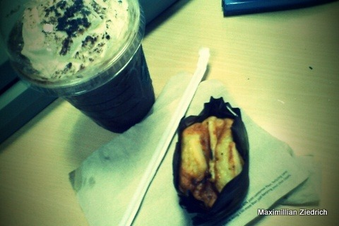Dark Mocha Frap and Bibibingka for Breakfast