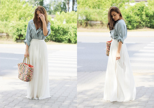 long skirts never fail! <3