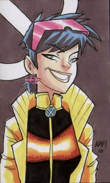thefingerfuckingfemalefury:  thehappysorceress:  Jubilee by Tony Fleecs  ^ Sparkly lady of awesome-ness who I want to be my BFF :D