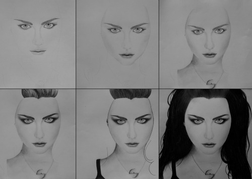 My Amy Lee drawing, step by step.