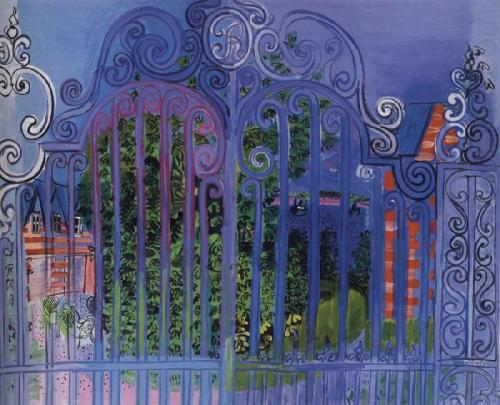 yama-bato:  Raoul Dufy - La Grille, 1930, Evelyn Sharp Collection, New York. http://thebluelantern.blogspot.ro/ [+]