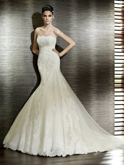 San Patrick Tulle and Lace Mermaid Style Wedding Dress WDSP201