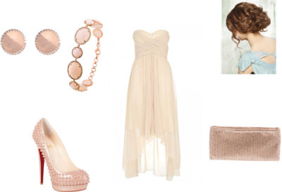 Сет свадьба :D пользователя morisamay с pink jewelryQuiz cream cocktail dress$77 - debenhams.comChristian louboutin pumpsshopsavannahs.comChristian louboutin handbag$1,745 - farfetch.comMajolie Collections pink jewelrymaxandchloe.comIleana Makri gold jewelrybarneys.com