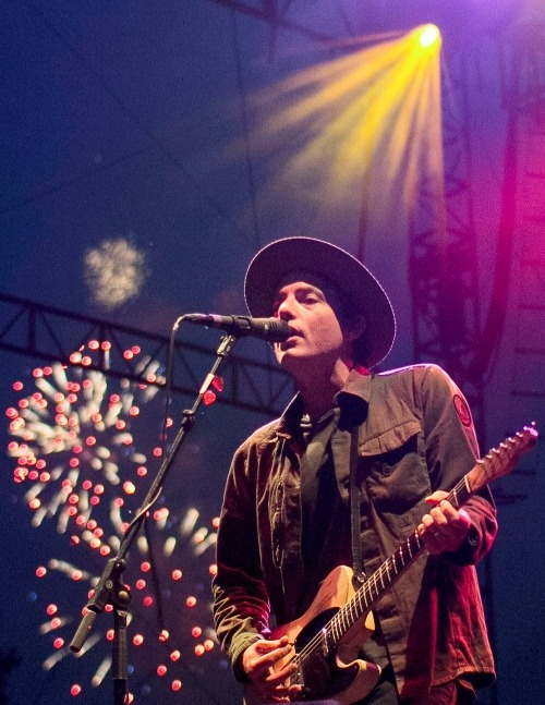 "Wallflowers frontman, Jakob Dylan, rocks out at Common Ground in Lansing's Adado Riverfront Park on Friday, July 13, 2012. The band is best known for their single ""One Headlight.""  (source: Natalie Kolb/The State News)"