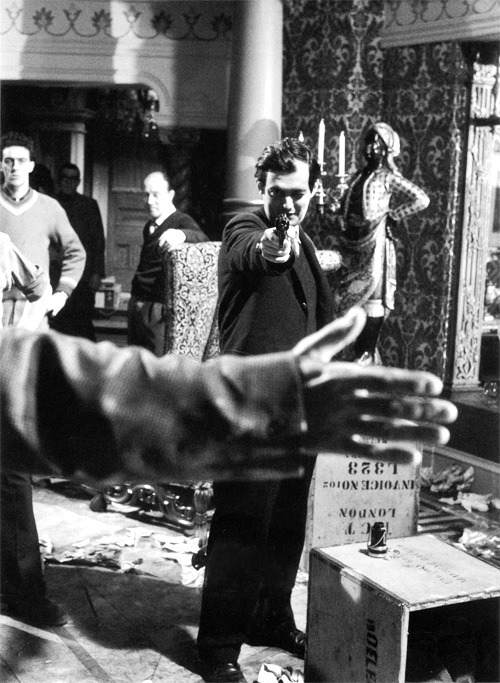 Stanley Kubrick on the set of Lolita
