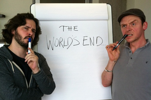 Edgar Wright's The World's End gets a Comic-Con poster The film, which of course features Simon Pegg and Nick Frost, centres on five friends who reunite for a pub crawl, as the world, or theirs at least, hinges on armageddon.