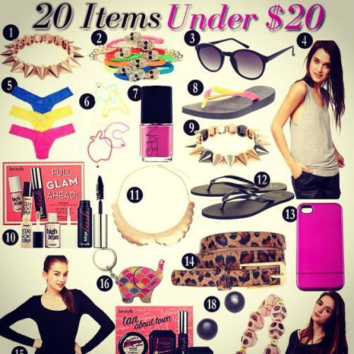 New on www.lifeonthesquares.com: 20 under $20! (Taken with Instagram)