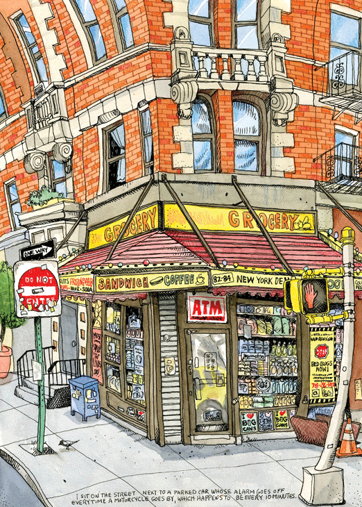 Williamsburg Bodega. A print can be purchased at my Etsy shop for $35.00 https://www.etsy.com/listing/104602232/williamsburg-bodega