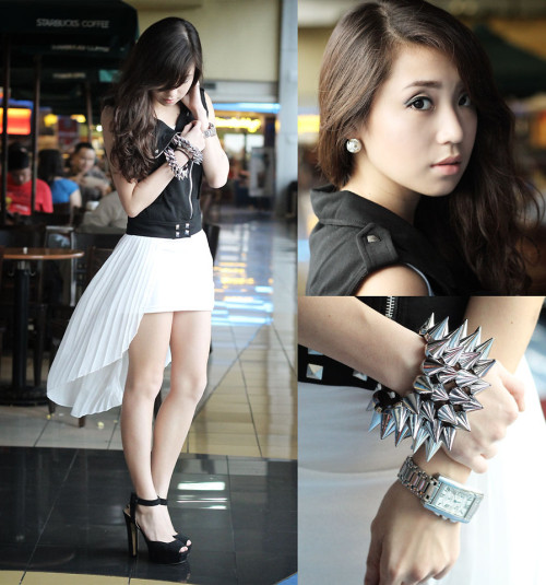 lookbookdotnu:  Black and White (by Kryz Uy)