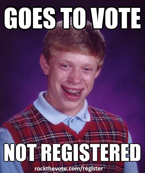 Make sure you're registered to vote! Do it here today http://bit.ly/O4BVF4