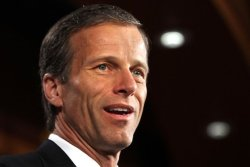 South Dakota Sen. John Thune, considered a possible contender to become Mitt Romney's running mate, recently met with the campaign aide in charge of the vice presidential vetting process, The Hill Newspaper reports.