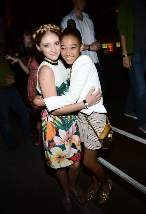 Primrose and Rue, how adorable! Willow Shields and Amandla Stenberg | EW's 6th Annual Comic-Con Celebration at the Hard Rock Hotel in San Diego - July 14, 2012