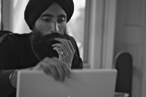 blkdnm:  A PORTRAIT OF WARIS AHLUWALIA. PHOTOGRAPHED BY JOHAN IN MONTAUK.  SWEATSHIRT 5