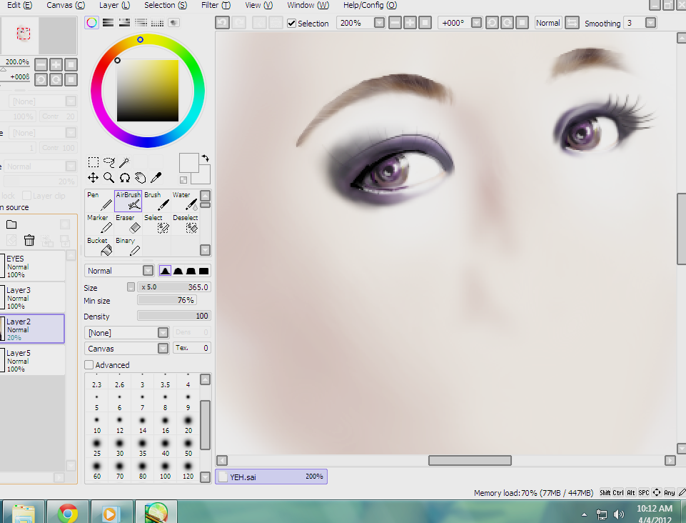Finally had the urge to finish my Yoon Eun Hye illustration… only to find out that the file has already been deleted from my PC. No way of recovering it. -__-  At least, I got to have a screen cap dating April 2012… courtesy of my twitter account. TT.TT