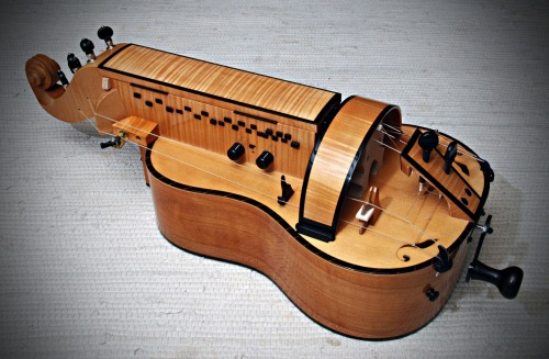 Another view of the Large Guitar Gurdy