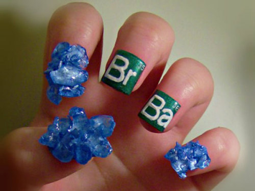 "thefrisky:  A Meth Manicure For ""Breaking Bad"" Fans"