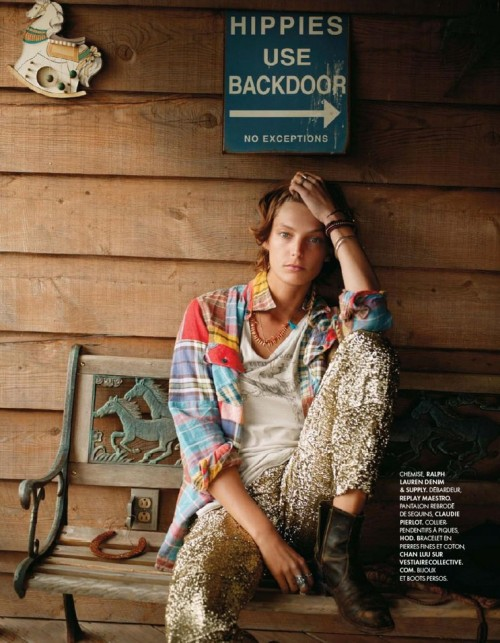 Elle France July 13rd, 2012Title : Wild Spirit Photography : Cass Bird Model : Daria Werbowy